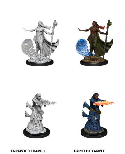 Female Human Wizard: D&D Nolzur's Marvelous Unpainted Miniatures